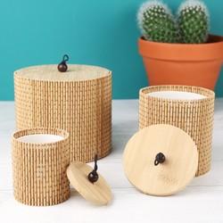Set of 3 Bamboo Storage Boxes