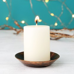 Small Vanilla Scented Pillar Candle