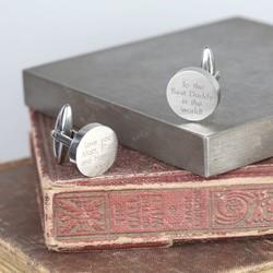 Personalised Men's Stainless Steel Disc Cufflinks