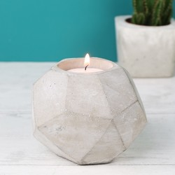 Concrete Geometric Candle Holder