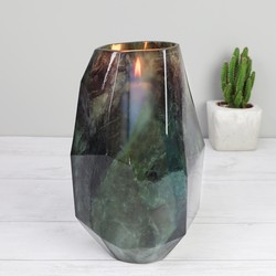 Geometric Green Marble Vase