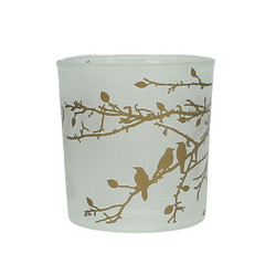 Gold Birds on a Branch Candle Holder