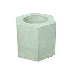 Large Concrete Geometric Hexagon Candle Holder