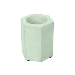 Small Concrete Geometric Hexagon Candle Holder