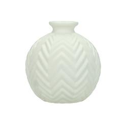 Small White Geometric Chevron Decorative Vase