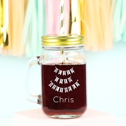 Personalised 'Happy 18th Birthday' Mason Jar