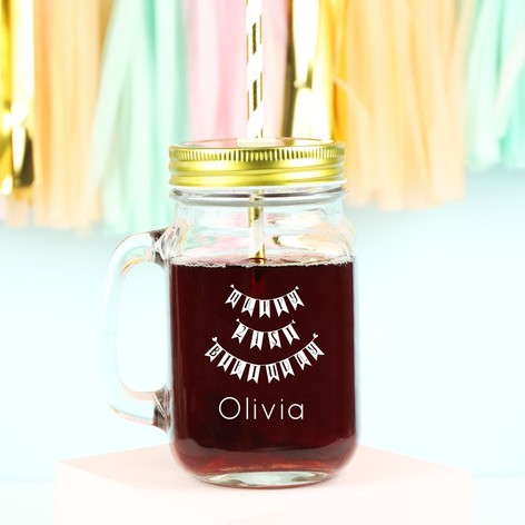 Personalised 'Happy 21st Birthday' Mason Jar