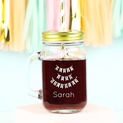 Personalised 'Happy 40th Birthday' Mason Jar