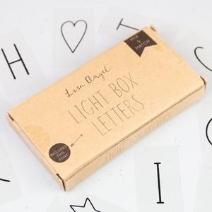 Skinny Font Letter Pack for LED Light Boxes