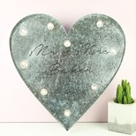 Personalised Industrial Wedding Heart with LED Lights