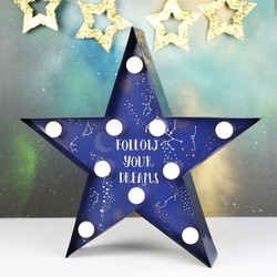 Starry Nights Quote LED Light