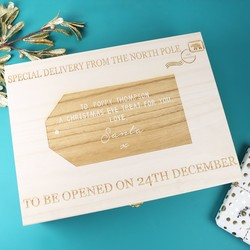 Personalised 'Special Delivery from Santa' Large Wooden Gift Box