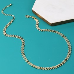 Delicate Gold Vine Leaf Chain Necklace