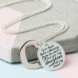 Mixed Metal 'My Daughter' Meaningful Words Necklace