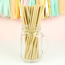 Pack of 25 Parcel Paper Straws