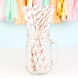 Pack of 25 Triangle Bunting Paper Straws