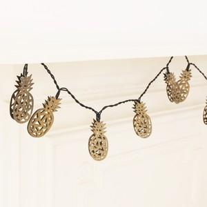 Bronze Pineapple LED String Lights