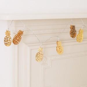 Gold Pineapple LED String Lights