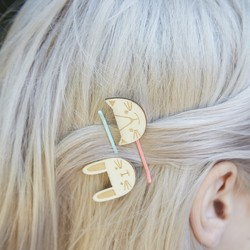 Meri Meri Wooden Animal Hair Pins