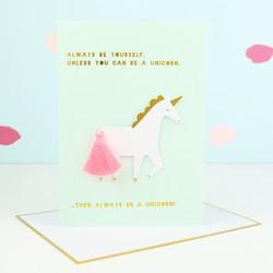 Meri Meri 'Always be a Unicorn' Tassel Card