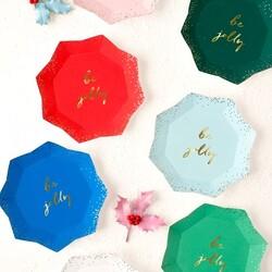 Meri Meri 'Be Jolly' Pack of 8 Christmas Paper Plates