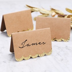 Meri Meri Glittery Scallop Placecards