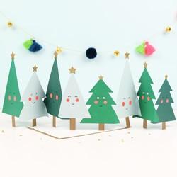 Meri Meri Happy Tree Concertina Christmas Card