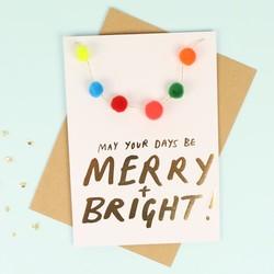 Meri Meri 'Merry and Bright' Christmas Card