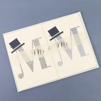 Meri Meri 'Mr & Mr' Fold Out Banner Card
