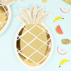 Meri Meri Pack of 8 Pineapple Paper Plates