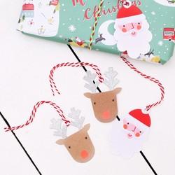 Meri Meri Pack of 8 Santa and Reindeer Gift Tags