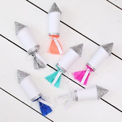 Meri Meri Pack of 6 Confetti Rockets