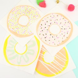 Meri Meri Pack of 16 Foiled Doughnut Napkins