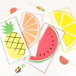 Meri Meri Pack of 12 Fruit Notecards