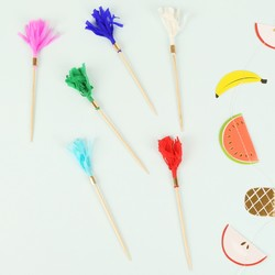 Meri Meri Pack of 24 Coloured Tassel Party Picks
