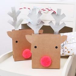Meri Meri Pack of 2 Small Reindeer Gift Bags