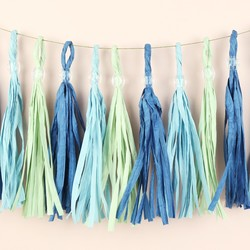 Meri Meri Pastel Blue Party Tassel Garland