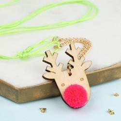 Meri Meri Pom Pom Reindeer Necklace