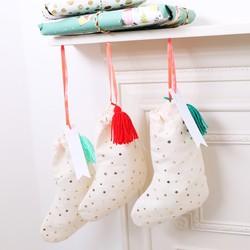Meri Meri Set of 3 Fabric Stocking Gift Bags