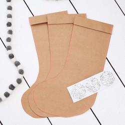 Meri Meri Set of 3 Kraft Stocking Gift Bags