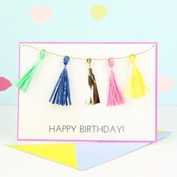 Meri Meri Tassel Garland Birthday Card