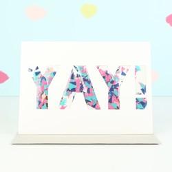 Meri Meri 'Yay' Confetti Shaker Celebration Card