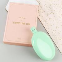 Aqua Oval Hip Flask