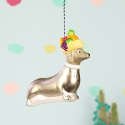 Fruity Sausage Dog Bauble