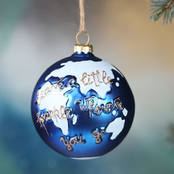 'Leave a Little Sparkle' Globe Bauble