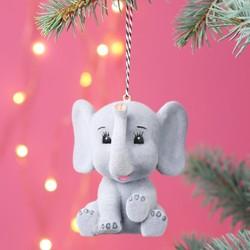 Soft Baby Elephant Bauble