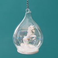 Unicorn in a Dome Bauble