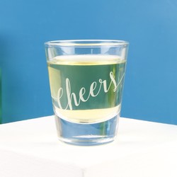 'Cheers' Shot Glass