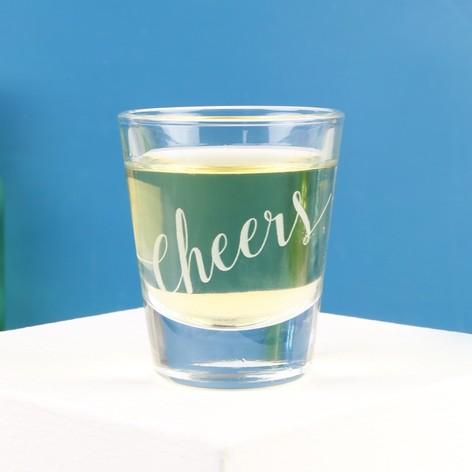 'Cheers' Shot Glass