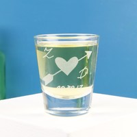 Personalised Heart & Arrow Shot Glass